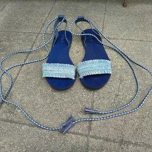 J. Crew Shoes - J crew wrap sandals
